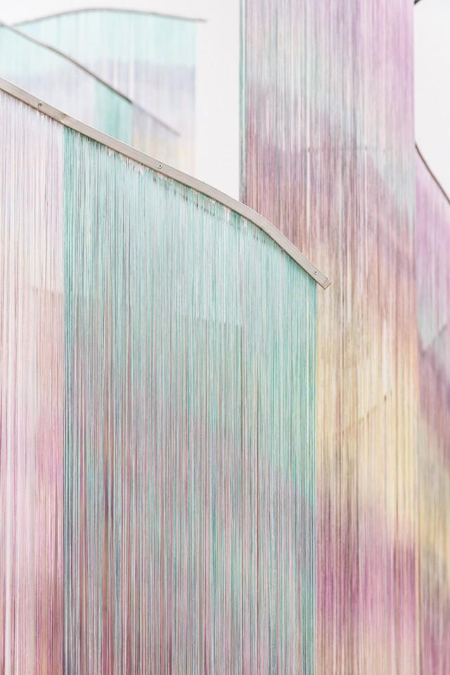 detail sculpture installation curtains