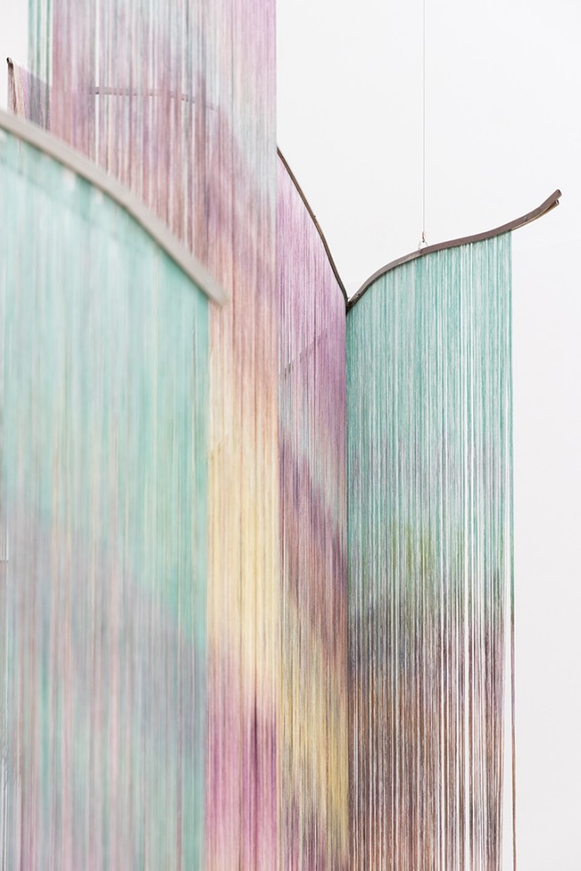 detail sculpture installation curtains intimity