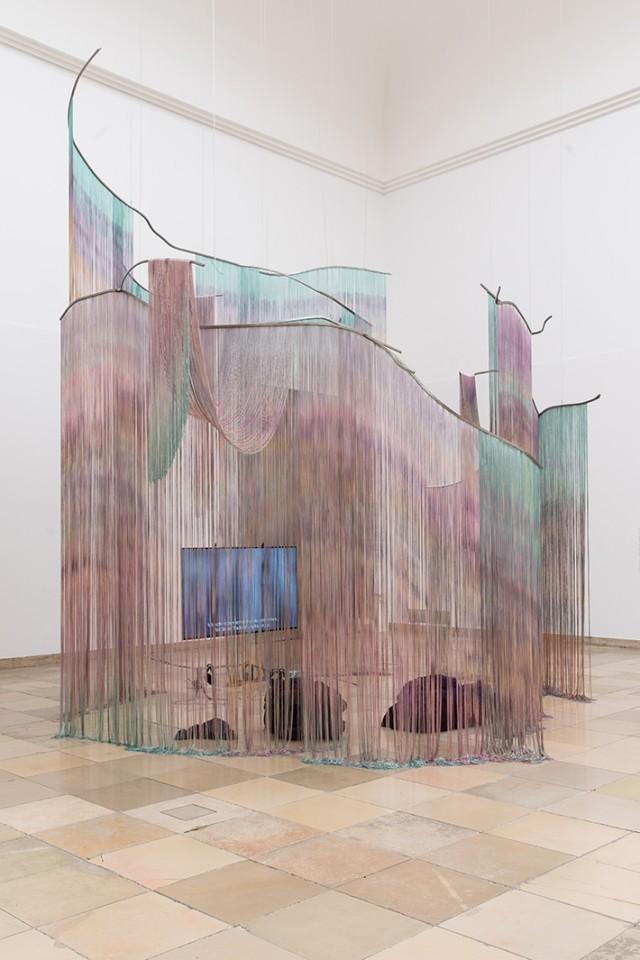 sculpture installation curtains intimity