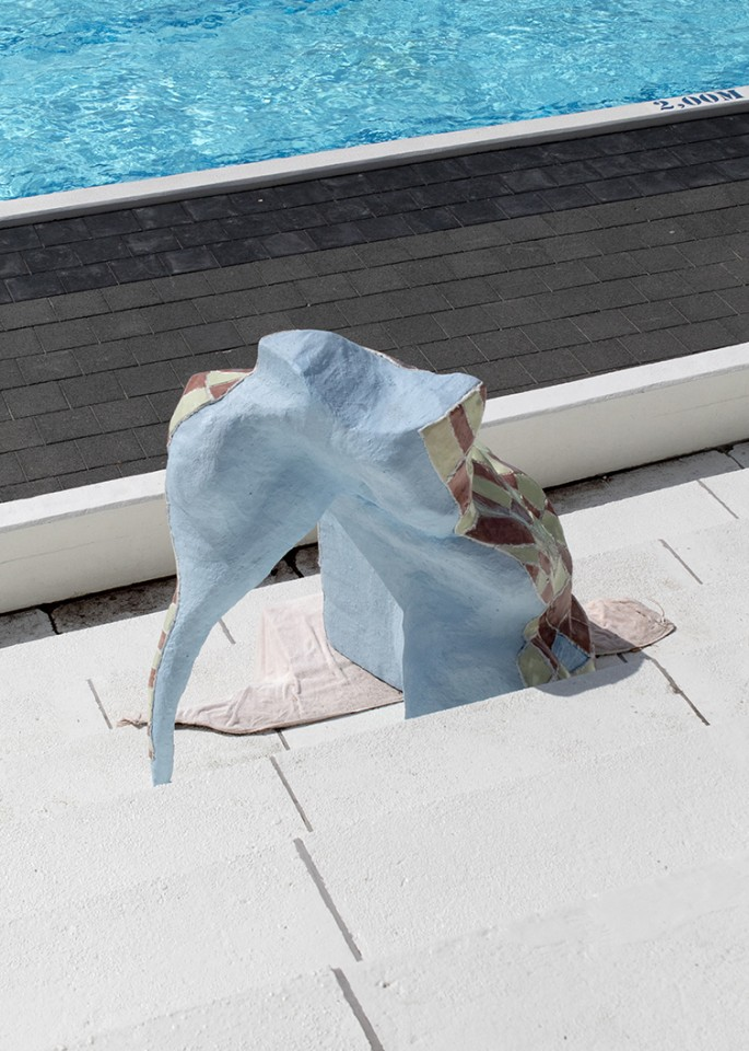 sculpture installation ceramic swimming pool
