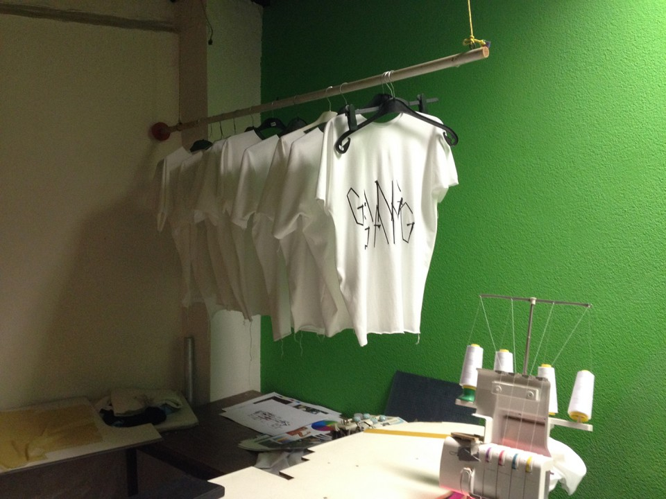 process workshop fashion brand silicone t-shirt designed by artists
