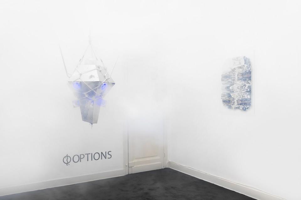 sculpture installation smoking machine