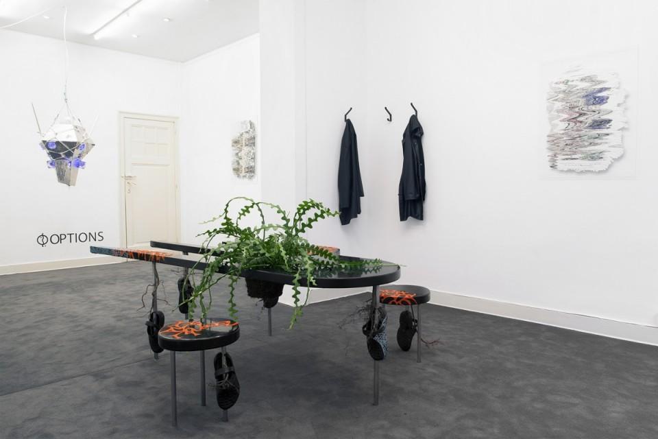 sculpture installation desk