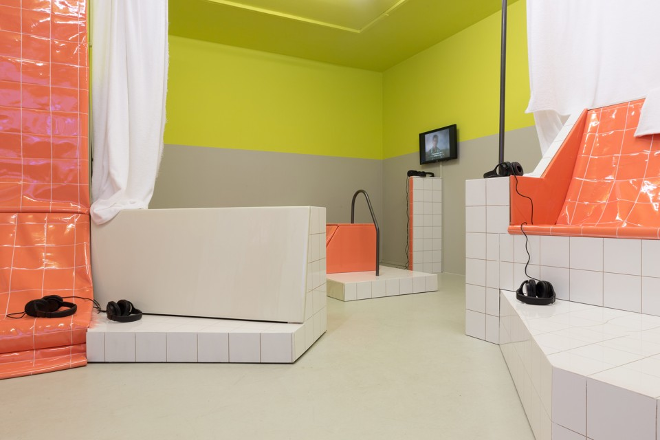 sculpture installation sauna