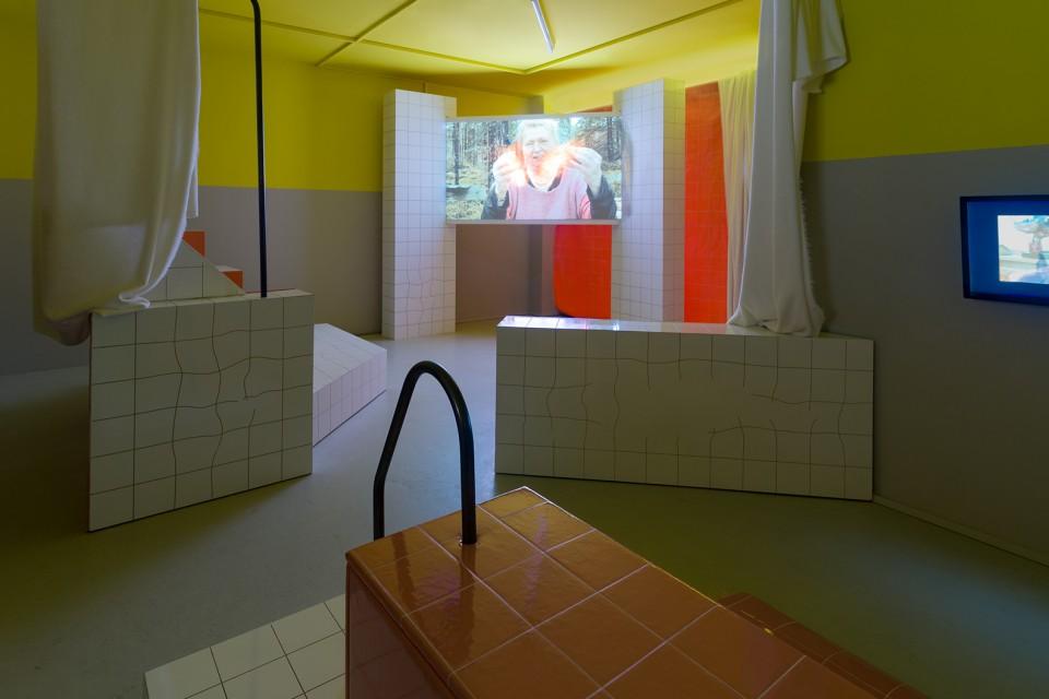 sculpture installation film sauna
