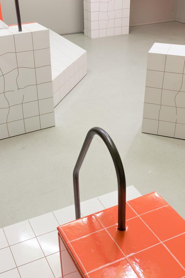 detail sculpture installation sauna