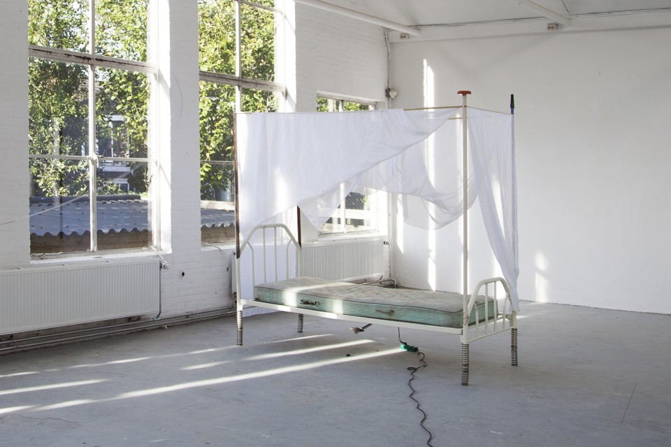sculpture installation bed