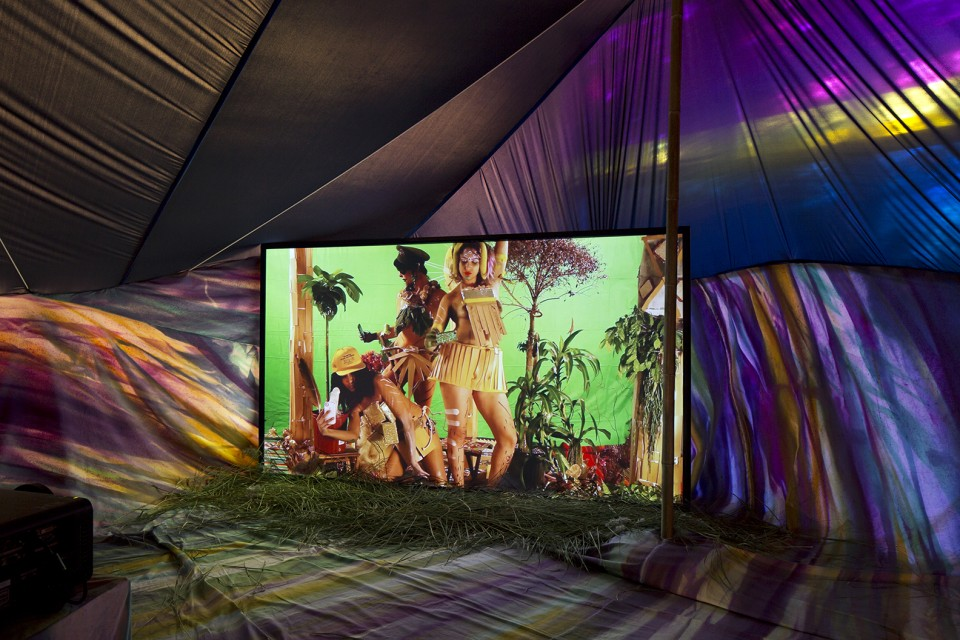 sculpture installation tent screen intimity