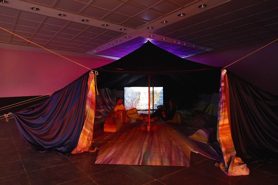 sculpture installation tent