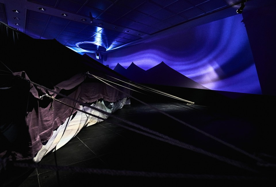 process sculpture installation tent