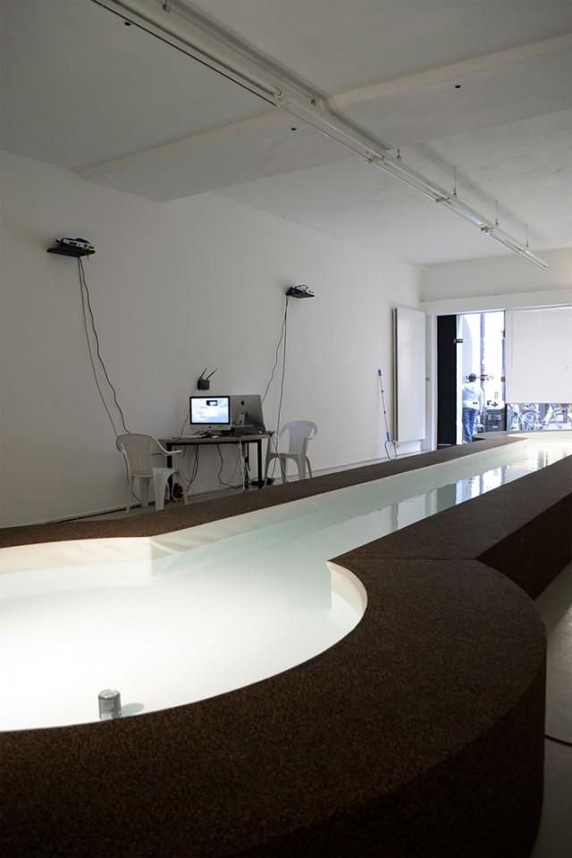 sculpture installation foutain radio