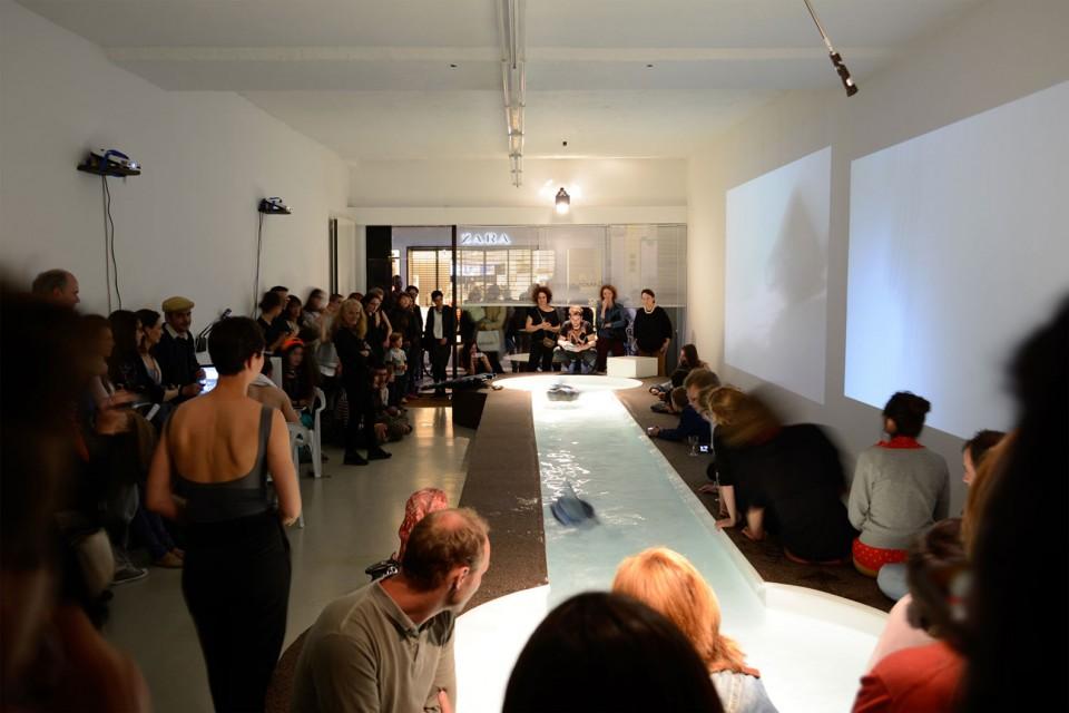 sculpture installation opening foutain