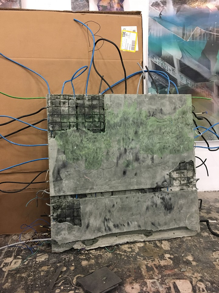 process sculpture installation cable