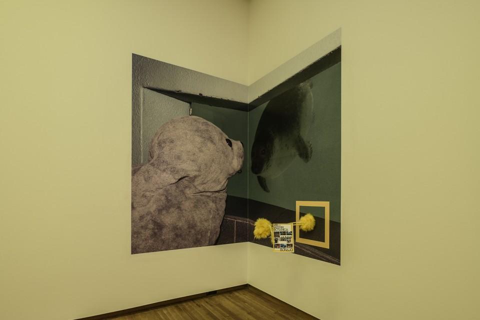 poster installation corner